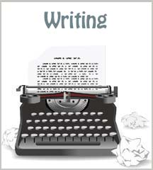 writing thumb